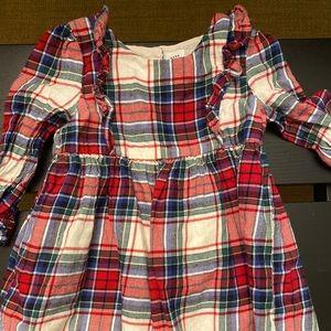 Baby gap flannel baby girl dress